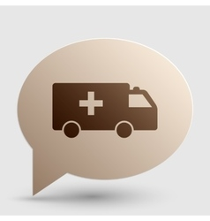 Ambulance sign Brown gradient icon vector image