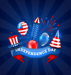 american banner for independence day traditional vector image