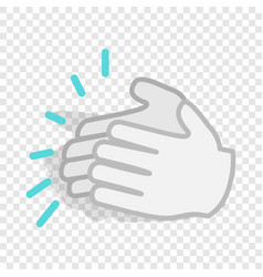 applause clapping hands isometric icon vector image
