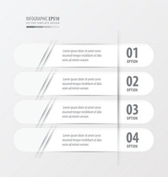Banner Rounded design white color vector
