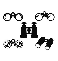 Binocular icon symbol set vector