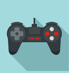 Black game joystick icon flat style vector