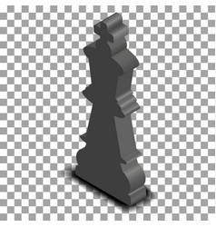 Black king chess piece isometric vector