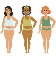 bodypositive plus sizea girls vector image