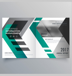 Brochure layout template design with geometric vector