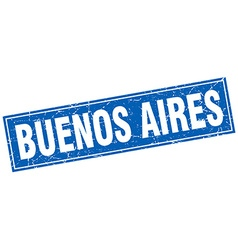 Buenos Aires blue square grunge vintage isolated vector