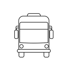 Bus public transport vector