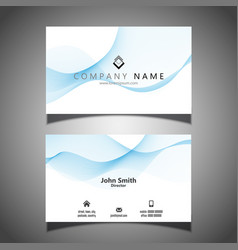 Business card with flowing lines design vector