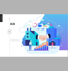 Business series - b2b business to business web vector