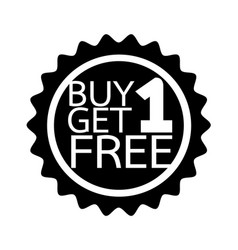 Buy one get one free icon symbol design vector