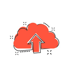cartoon cloud icon in comic style cloud sign vector image