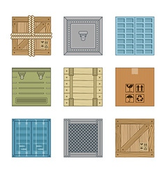 Collection various boxes vector