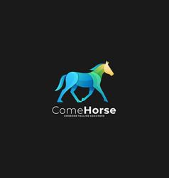 Come horse template vector