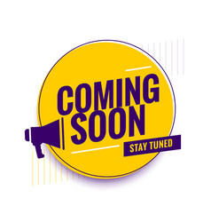 Coming soon teaser promo display background vector