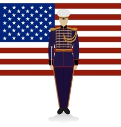 Conductor of of a military band USA-1 vector