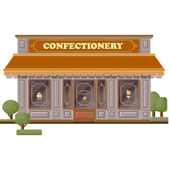 confectionery shop facade stylish sweets boutique vector image