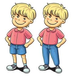 Confident Boy vector image