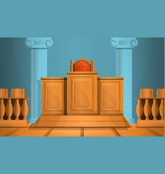 Courthouse concept background cartoon style vector