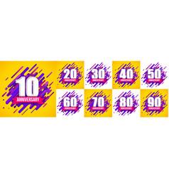 creative of anniversary logo vector image
