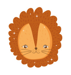 cute lion circus character vector image