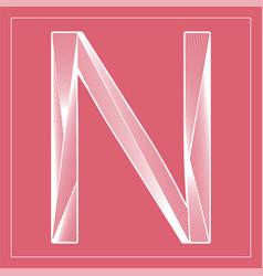 Decorative font stylized letter n vector