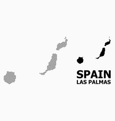 Dotted pattern map las palmas province vector