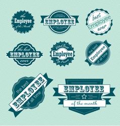 Employee month label set vector