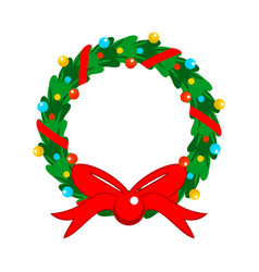 Flat design christmas fully decorated garland vector
