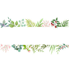 floral greenery card design wedding invite vector image