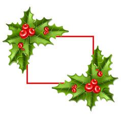 frame2 christmas mistletoe 10eps vector image