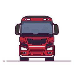 front view big transportation truck vector image