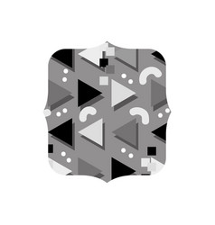 Grayscale quadrate with style memphis graphic vector