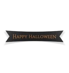 Happy Halloween black festive Ribbon vector