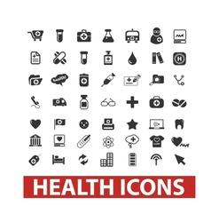 Health icons set vector