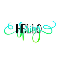 Hello spring lettering design layout vector