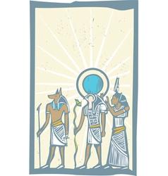 Hieroglyph Sun Rays vector image