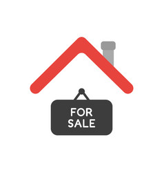 icon concept of for sale hanging sign under house vector image