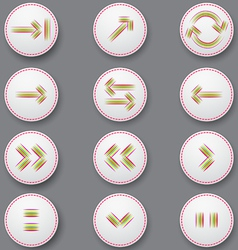 Icons with color arrows vector image