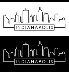 Indianapolis skyline linear style editable file vector
