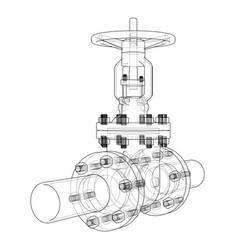 Industrial valve vector