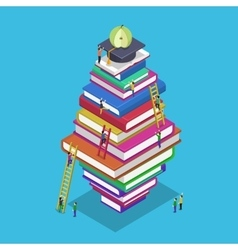 Isometric education graduation back school 3d vector image