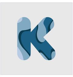 K water font template design vector
