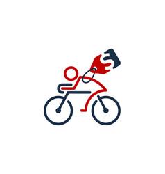 Label bike logo icon design vector