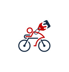 label bike logo icon design vector image