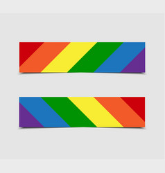 lgbt pride flag stickers price tag label card vector image