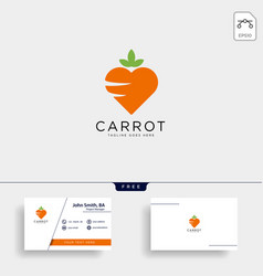 Love carrot logo template icon element isolated vector