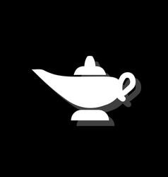 magic lamp icon flat vector image