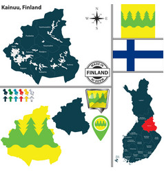 map of kainuu finland vector image