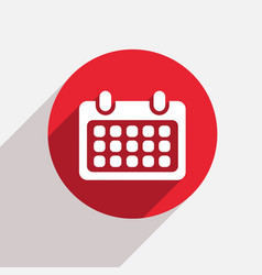 Modern calendar red circle icon vector