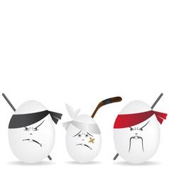 Ninja eggs vector image